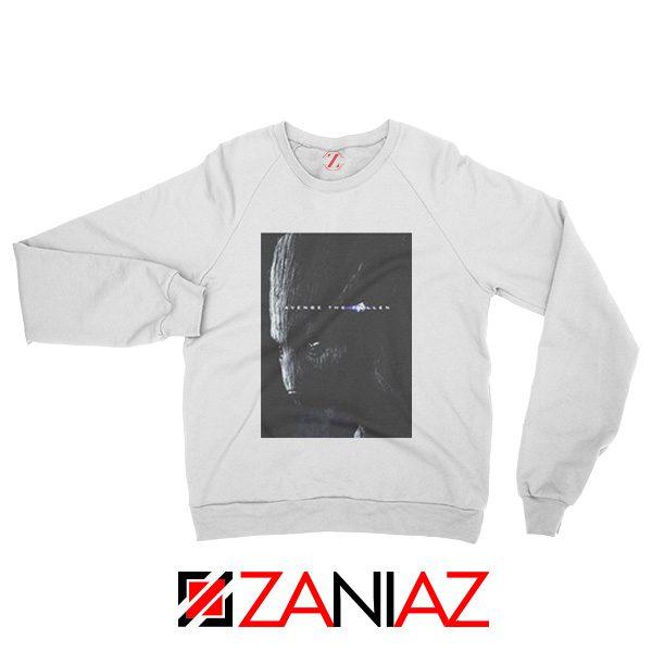 Groot Poster Sweatshirt Marvel Avengers Endgame Sweatshirt White