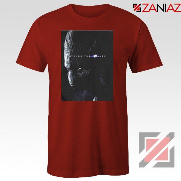 Groot Poster T-shirt Marvel Avengers Endgame Tshirt All Size Red