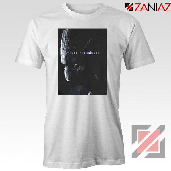 Groot Poster T-shirt Marvel Avengers Endgame Tshirt All Size White