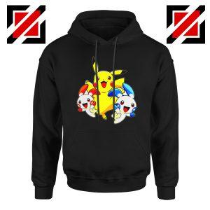 Hello Pokemon Hoodie Pokemon Pikachu Happy Hoodie Size S-2XL Black