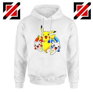 Hello Pokemon Hoodie Pokemon Pikachu Happy Hoodie Size S-2XL White