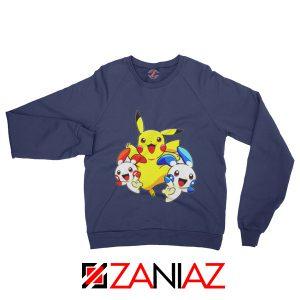 Hello Pokemon Sweatshirt Pokemon Pikachu Happy Sweatshirt Navy Blue