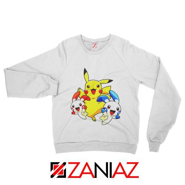Hello Pokemon Sweatshirt Pokemon Pikachu Happy Sweatshirt White