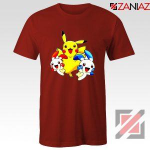 Hello Pokemon T Shirts Pokemon Pikachu Happy T-Shirt Size S-3XL Red