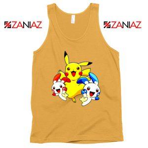 Hello Pokemon Tank Top Pokemon Pikachu Happy Tank Top Size S-3XL Sunshine