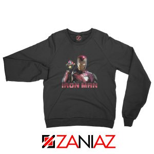 I Am Iron Man Infinity Gauntlet Sweatshirt Avengers Endgame Black