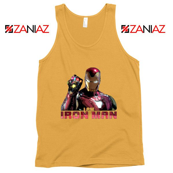 I Am Iron Man Infinity Gauntlet Tank Top Avengers Endgame Sunshine