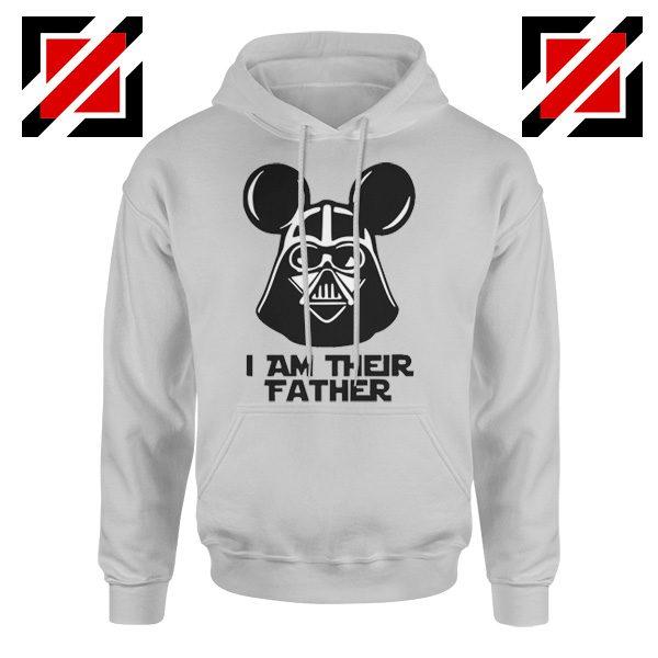 I Am Their Father Nice Hoodie Star Wars Disney Mickey Size S-2XL Sport Grey