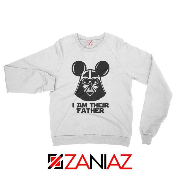 I Am Their Father Nice Sweatshirt Star Wars Disney Mickey Size S-2XL White