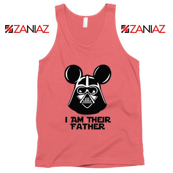 I Am Their Father Nice Tank Top Star Wars Disney Mickey Size S-3XL Coral
