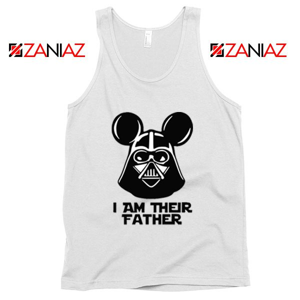 I Am Their Father Nice Tank Top Star Wars Disney Mickey Size S-3XL White