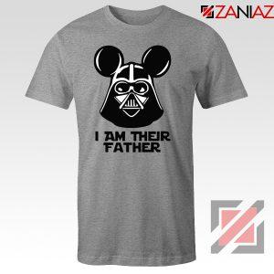 I Am Their Father Nice Tshirt Star Wars Disney Mickey Size S-3XL Grey