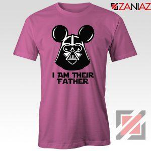 I Am Their Father Nice Tshirt Star Wars Disney Mickey Size S-3XL Pink