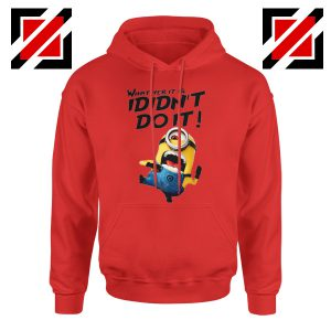 I Didn't Do It Minion Hoodie Funny Minion Hoodie Size S-2XL Red