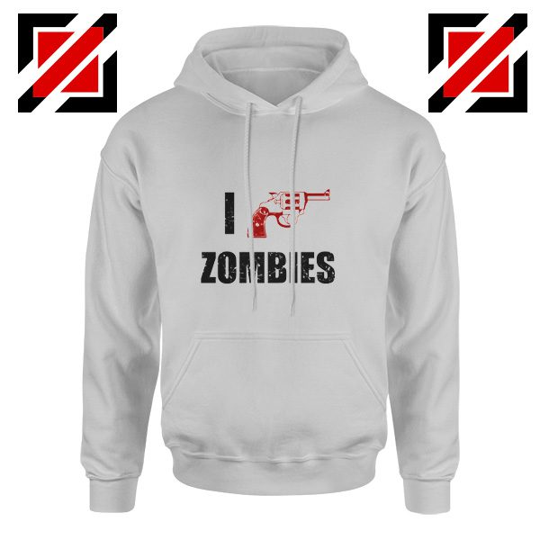 I Heart Zombies Hoodie The Walking Dead Cheap Hoodie Size S-2XL Sport Grey