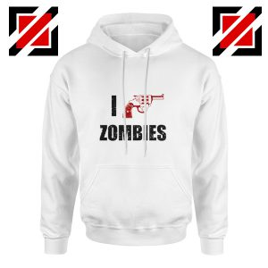 I Heart Zombies Hoodie The Walking Dead Cheap Hoodie Size S-2XL White