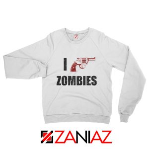 I Heart Zombies Sweatshirt The Walking Dead Sweatshirt Size S-2XL White