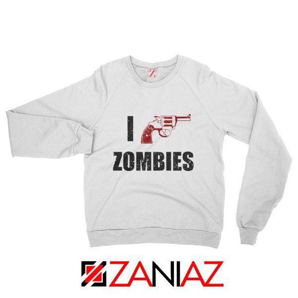 I Heart Zombies Sweatshirt The Walking Dead Sweatshirt Size S-2XL White