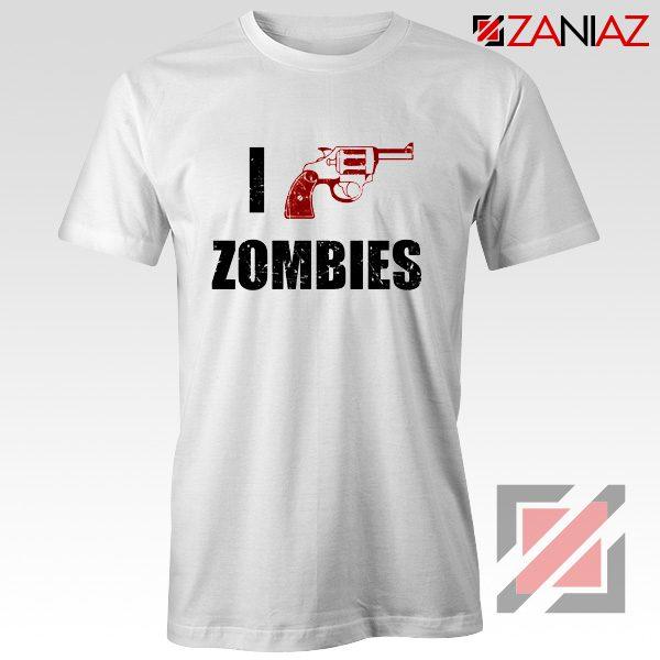 I Heart Zombies T-Shirt The Walking Dead Tee Best Shirt Size S-3XL White