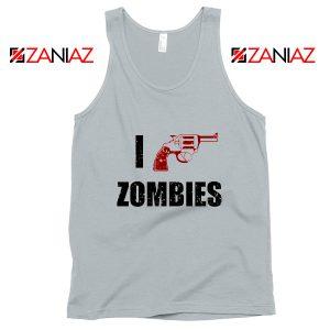 I Heart Zombies Tank Top The Walking Dead Tank Top Size S-3XL Silver