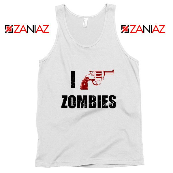 I Heart Zombies Tank Top The Walking Dead Tank Top Size S-3XL White