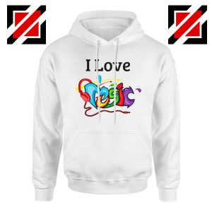 I Love Music Hoodie The Best Music Festival Hoodie Size S-2XL White
