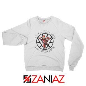 I Love You 3000 Sweatshirts Marvel Iron Man Sweatshirts Size S-2XL White