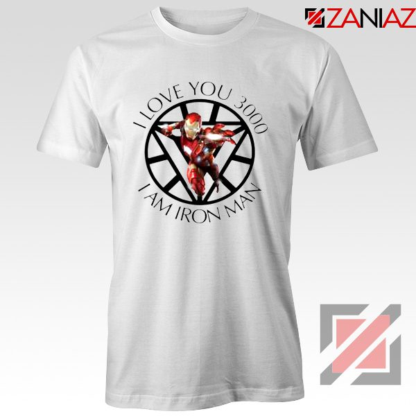 I Love You 3000 T-Shirts Marvel Iron Man Tee Shirts Size S-3XL White