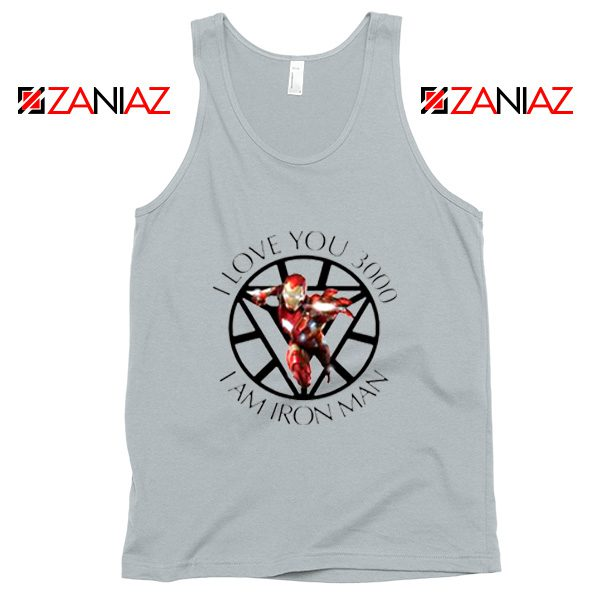 I Love You 3000 Tank Tops Marvel Iron Man Best Tank Top Silver