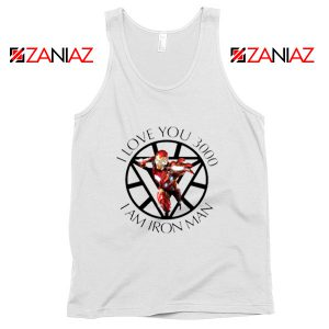 I Love You 3000 Tank Tops Marvel Iron Man Best Tank Top White