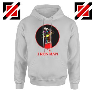 I'M Iron Man Tony Stark Infinity Gauntlet Best Hoodie Size S-2XL Sport Grey