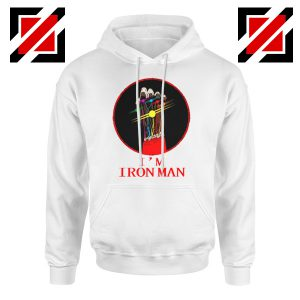 I'M Iron Man Tony Stark Infinity Gauntlet Best Hoodie Size S-2XL White