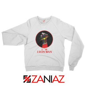 I'M Iron Man Tony Stark Infinity Gauntlet Best Sweatshirt Size S-2XL White