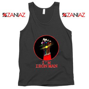 I'M Iron Man Tony Stark Infinity Gauntlet Best Tank Tops Size S-3XL Black