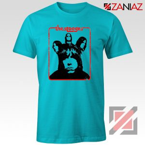 Iggy And The Stooges American Rock Band Best T-Shirt Size S-3XL Light Blue