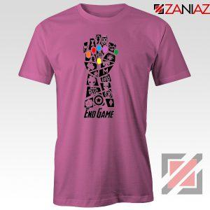 Infinity Gauntlet Marvel Comics Tshirts Avengers Endgame Tshirt Pink