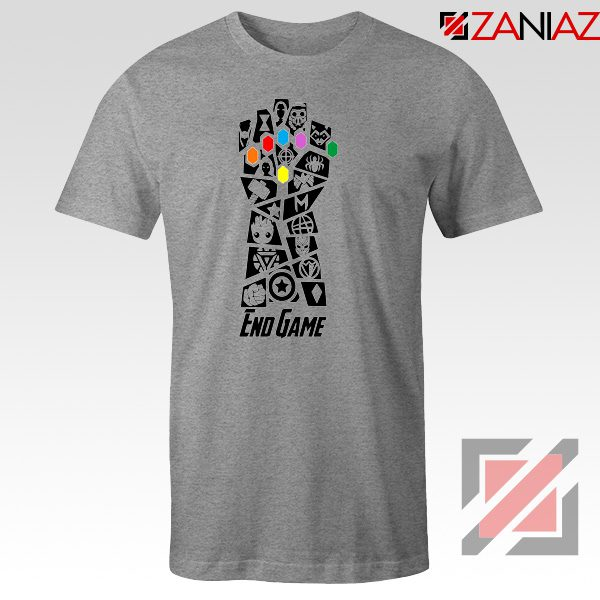 Infinity Gauntlet Marvel Comics Tshirts Avengers Endgame Tshirt Sport Grey