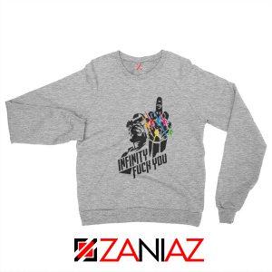 Infinity War Sucks Sweatshirts Parody Thanos Sweatshirts Size S-2XL Sport Grey