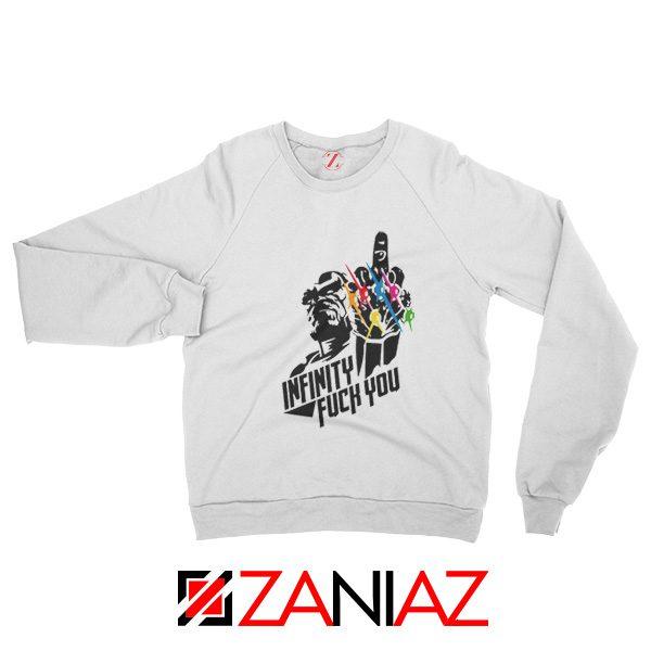 Infinity War Sucks Sweatshirts Parody Thanos Sweatshirts Size S-2XL White