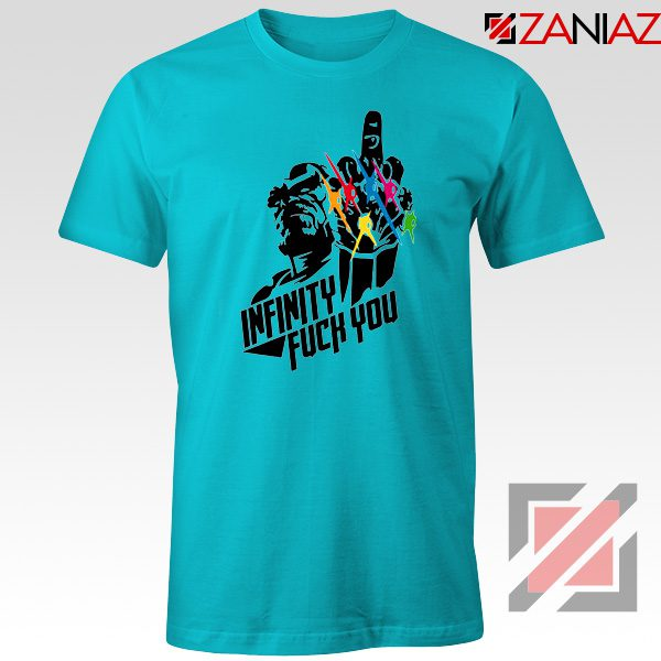 Infinity War Sucks T-shirt Parody Thanos Tee Shirts Size S-3XL Light Blue