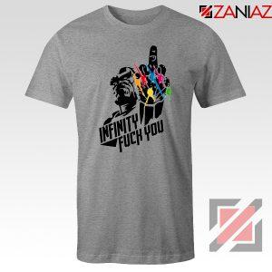 Infinity War Sucks T-shirt Parody Thanos Tee Shirts Size S-3XL Sport Grey