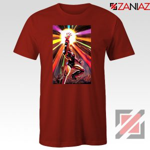 Iron Man Infinity Gauntlet T-shirts Avengers Endgame Tee Shirts Red