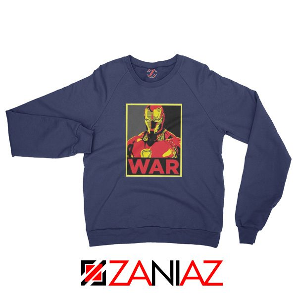 Iron Man War Sweatshirt Infinity War Cheap Sweatshirt Size S-2XL Navy Blue