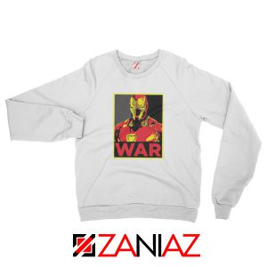 Iron Man War Sweatshirt Infinity War Cheap Sweatshirt Size S-2XL White