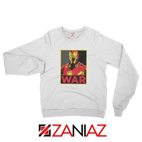Iron Man War Sweatshirt Infinity War Cheap Sweatshirt Size S-2XL White