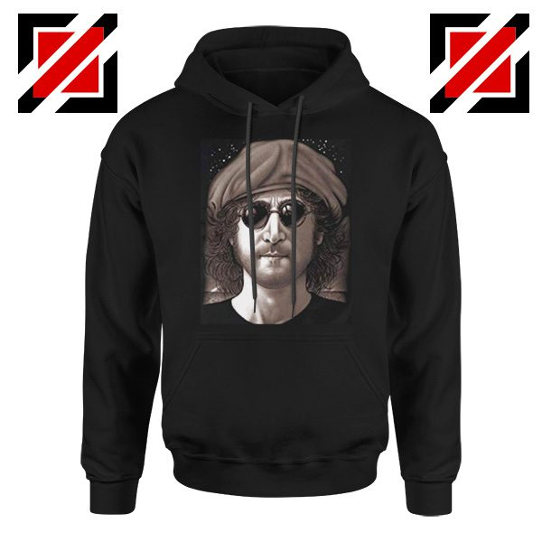 John Lennon Imagine Hoodie The Beatles Band Music Hoodie Size S-2XL Black