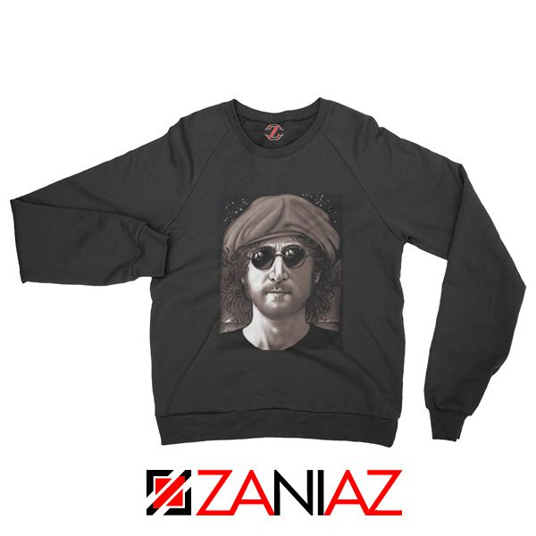 John Lennon Imagine Sweatshirt The Beatles Band Music Sweatshirt Black