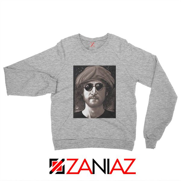 John Lennon Imagine Sweatshirt The Beatles Band Music Sweatshirt Sport Grey