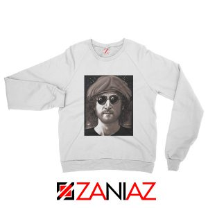 John Lennon Imagine Sweatshirt The Beatles Band Music Sweatshirt White