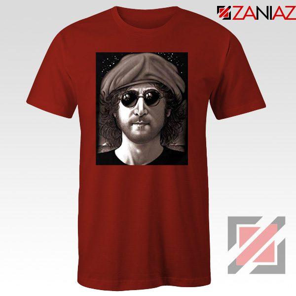 John Lennon Imagine T-Shirt The Beatles Band Music T-Shirt Size S-3XL Red